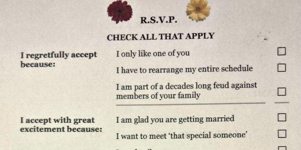 Funny Wedding Invitation Responses ~ Yaseen for .