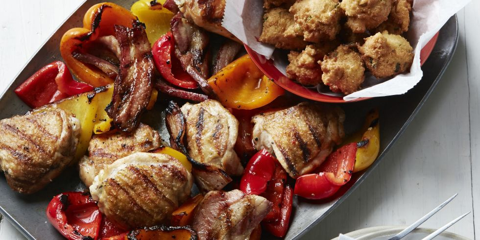Grilled Chicken Bacon And Peppers