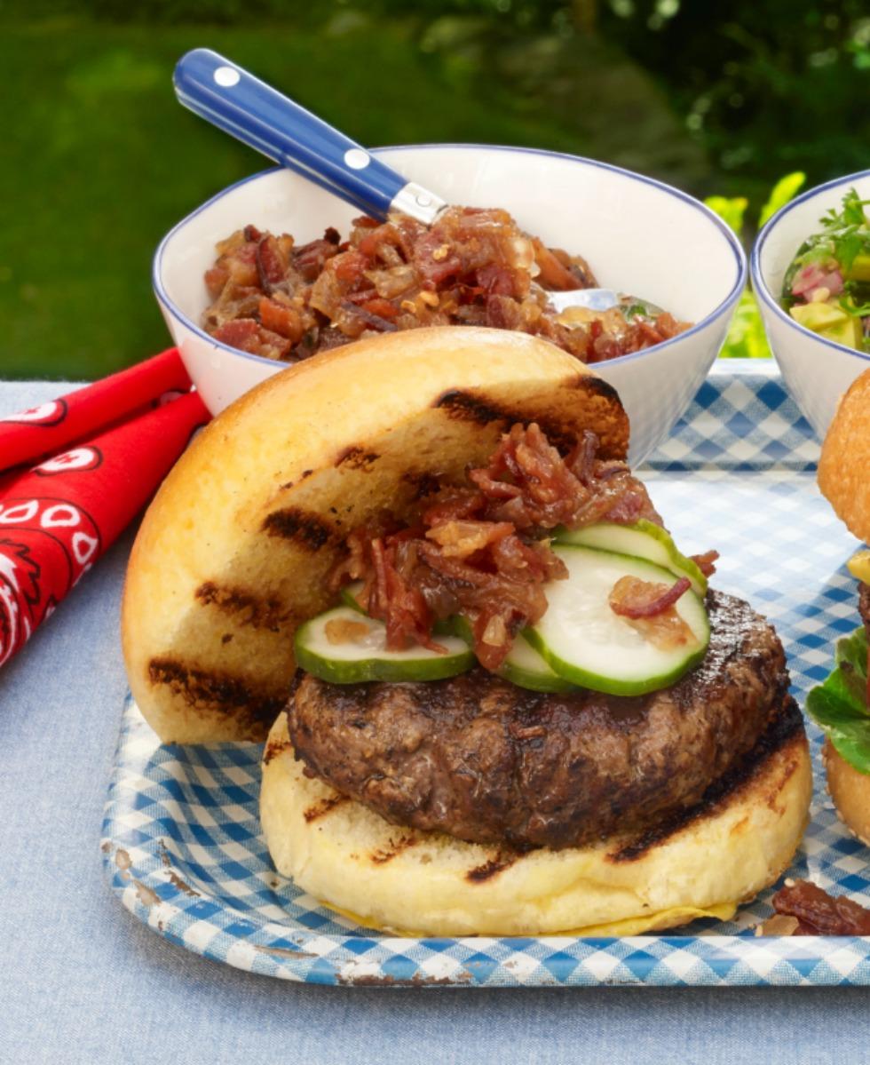 Clinton Burger with Bacon Jam