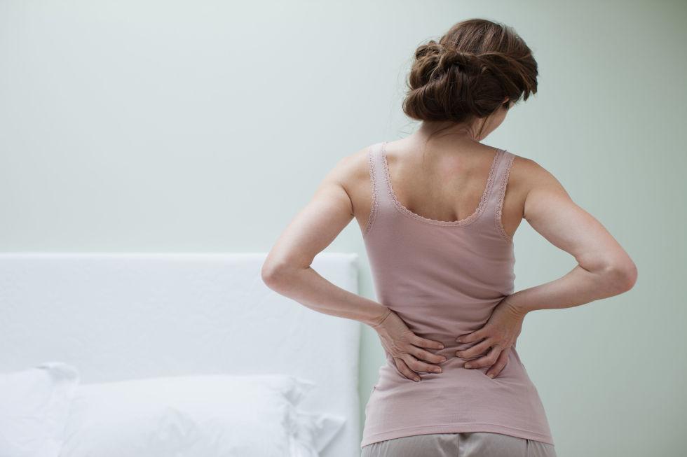 Crampy low back pain in men
