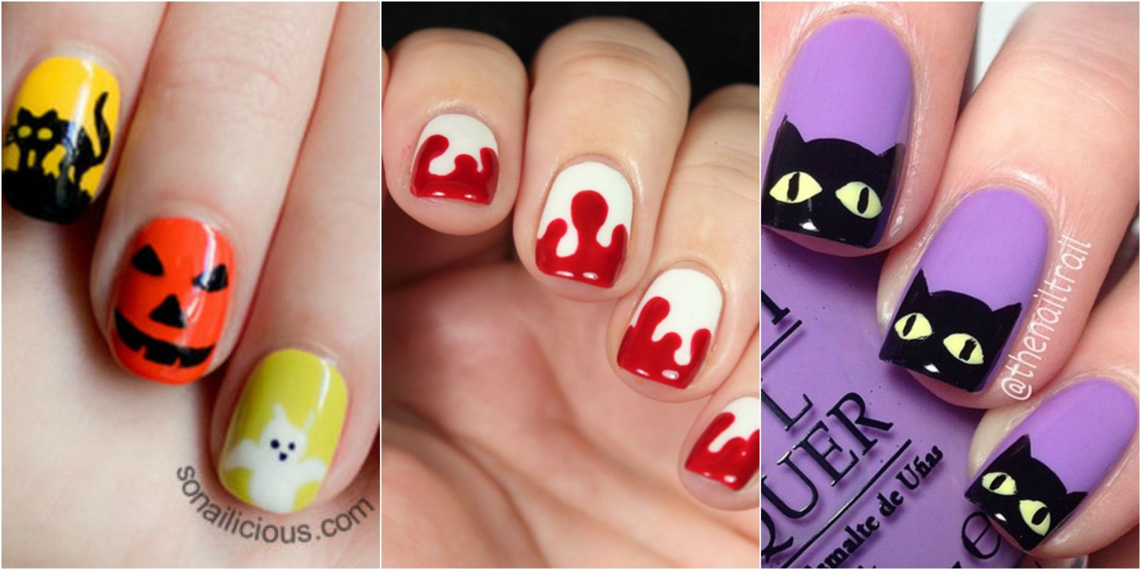 26 spooktacular halloween nail art ideas - Halloween Easy Nail Art