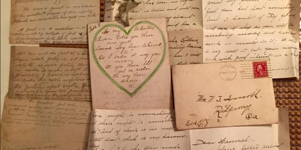 a woman found a stash of 100-year-old love letters in the ceiling