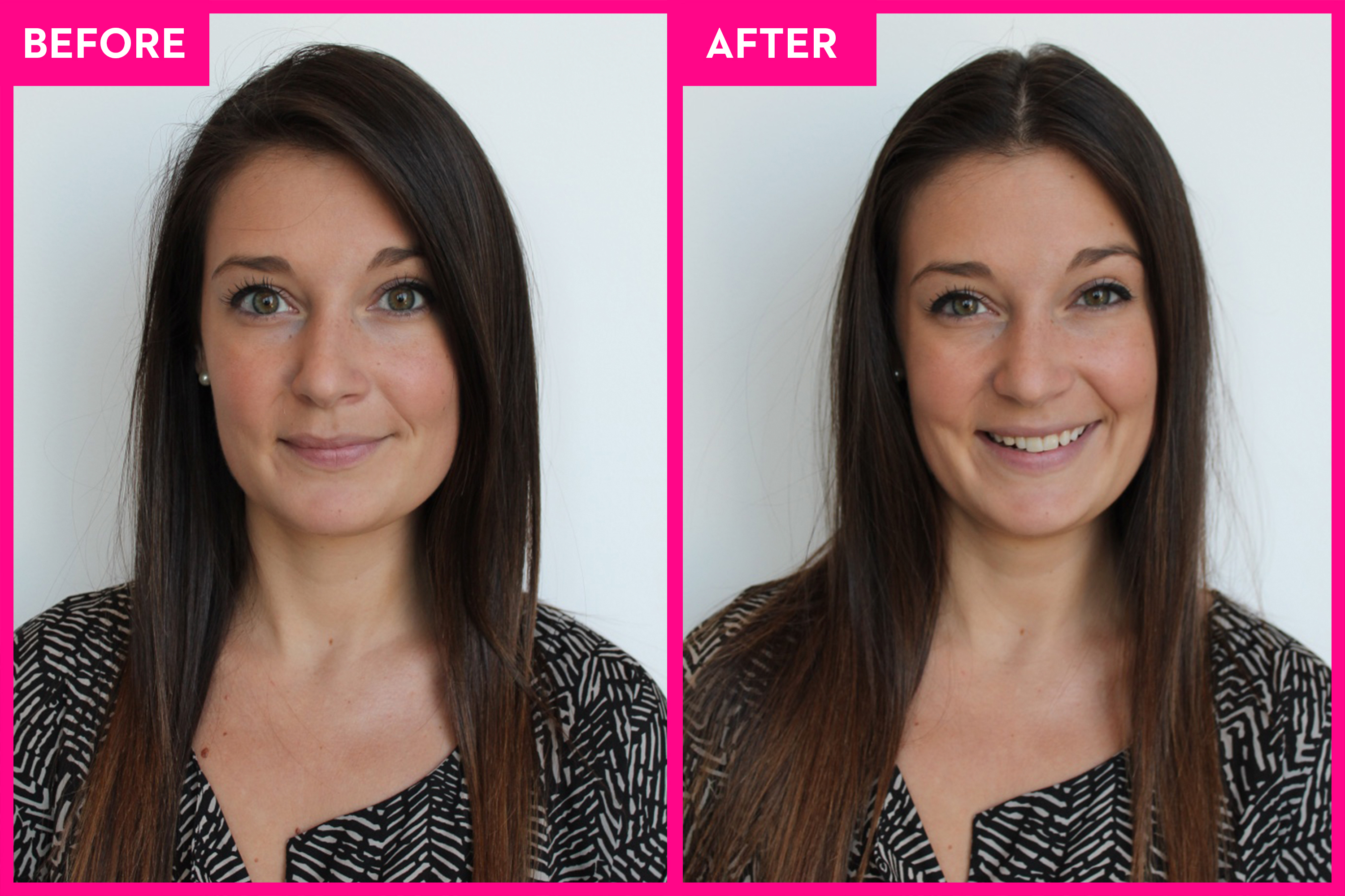 5 Women Switch Their Hair Part Side And Middle Part