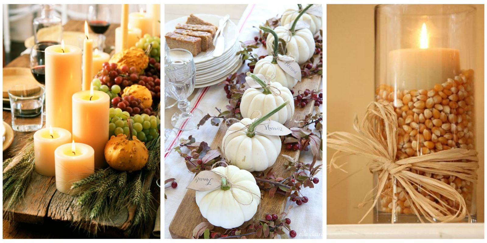 40 Fall And Thanksgiving Centerpieces Diy Ideas For Fall: simple thanksgiving table decorations