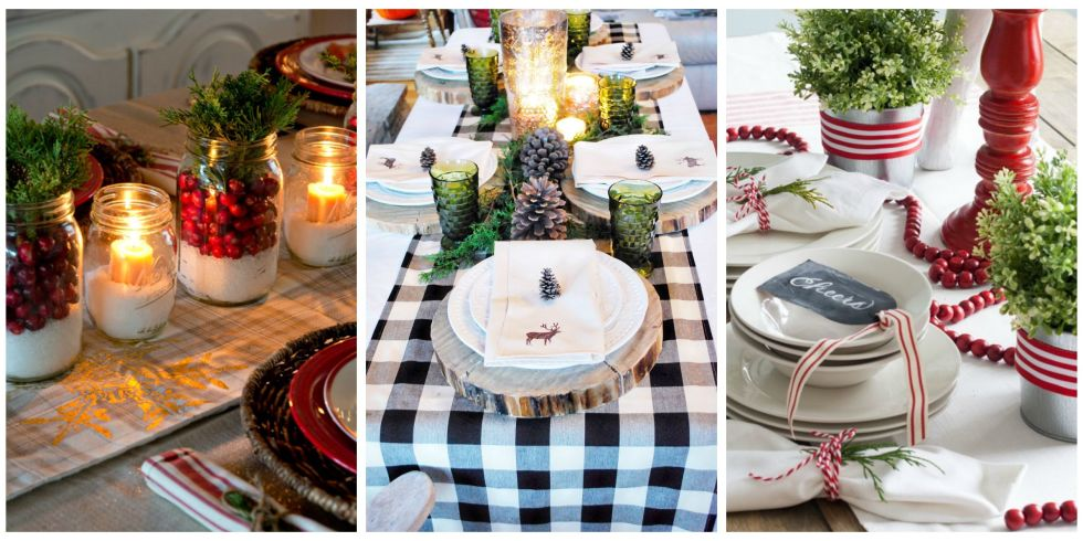 Christmas Table Decorations Centerpieces Ideas For Holiday - Christmas tartan table decoration
