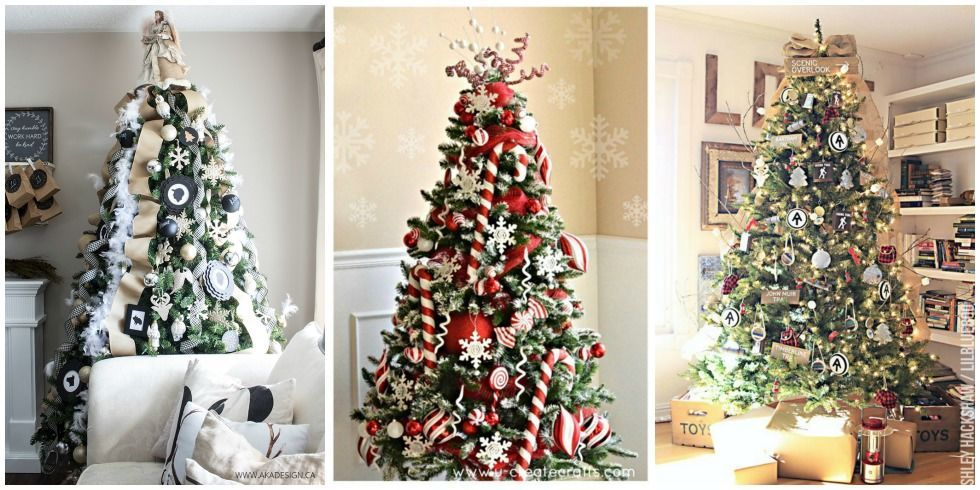 25+ Unique Christmas Tree Decoration Ideas - Pictures of Decorated  Christmas Trees