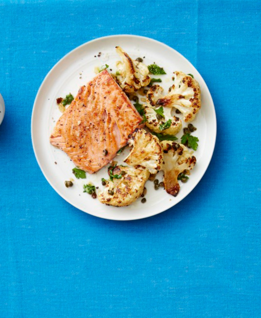 Seared Salmon with Roasted Cauliflower