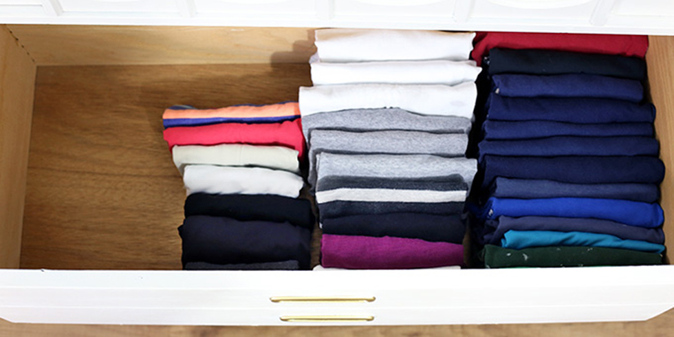 How To Fold Baby Clothes In Drawer