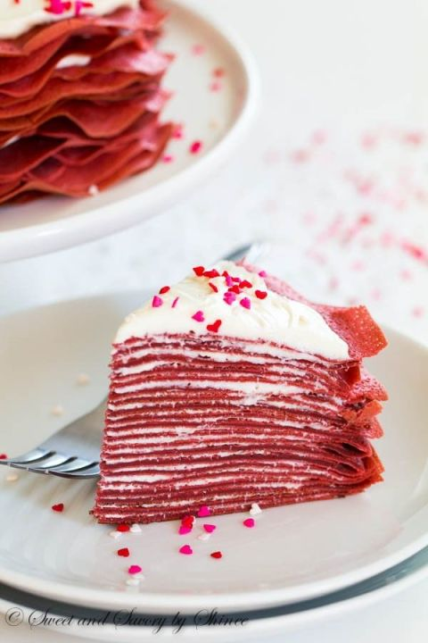 Red Velvet Crepe Cake Recipe
