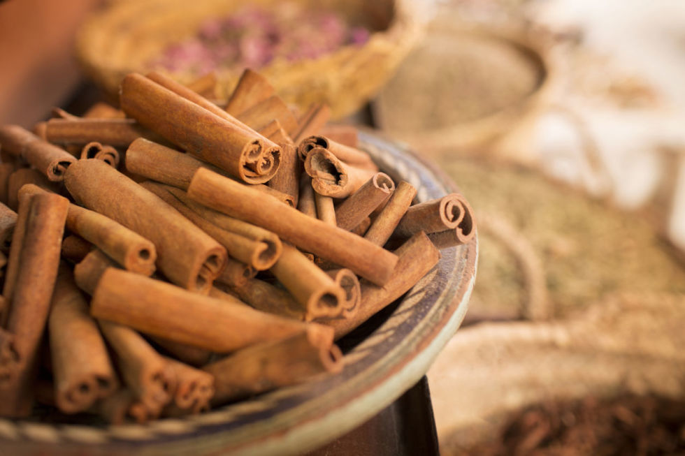 Traditionally used to treat both morning sickness and diarrhea, cinnamon is also effective for breaking up gas bubbles. Sprinkle it on savory foods (like chicken) as well as on sweet ones (apple pie).