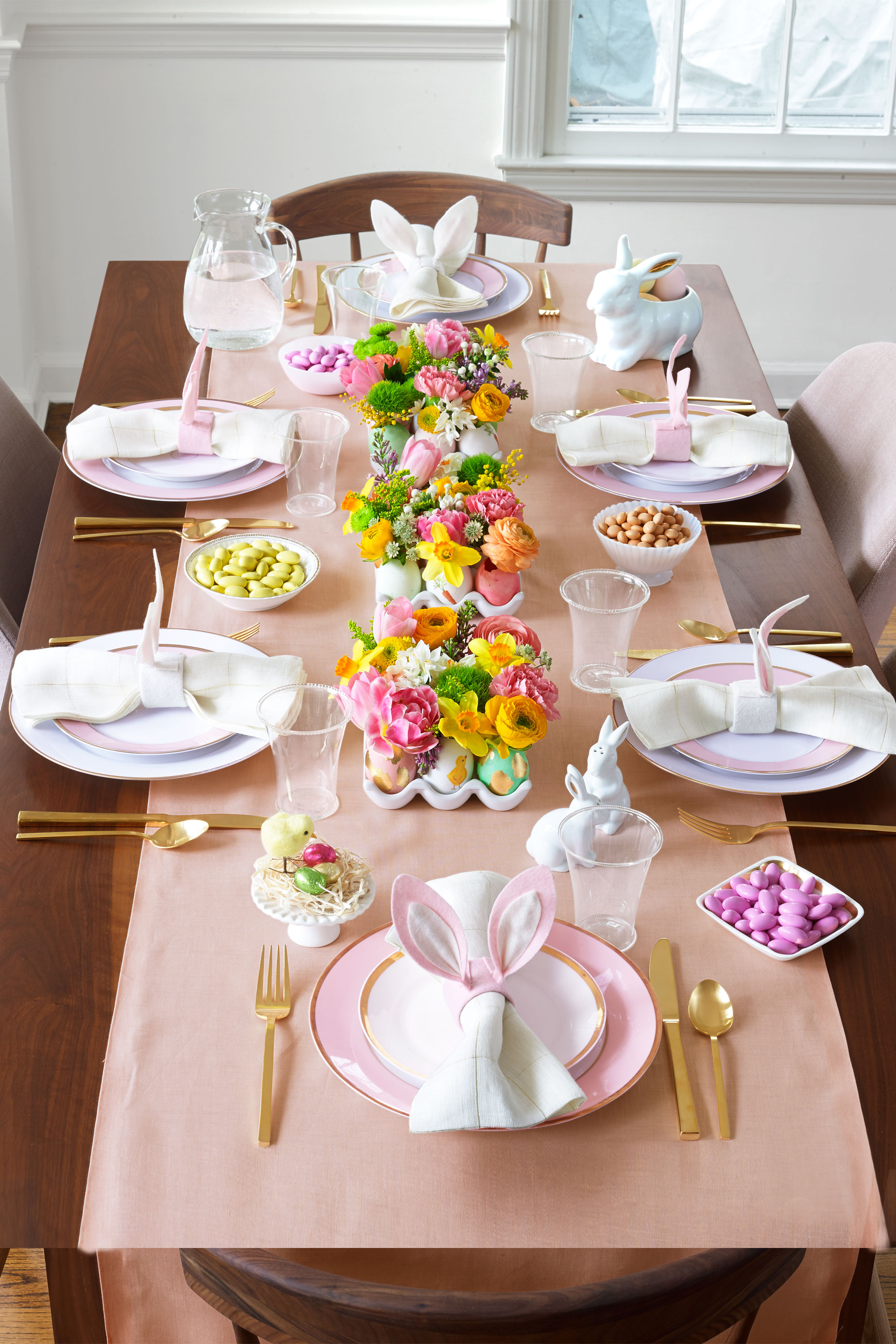 17 easter table decorations table decor ideas for easter Brunch table decorations