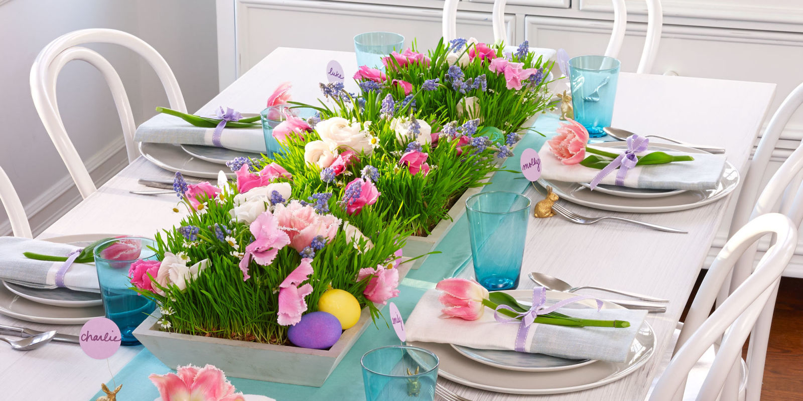 27 easter table decorations table decor ideas for easter for How to make easter decorations for the home