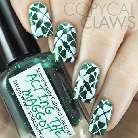 St patricks day nails green nail art ideas sham rockin stamps prinsesfo Images