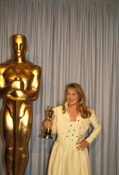 Streep won her first Academy Award for her supporting role in 1979's Kramer vs. Kramer. At some point during the night's festivities, she forgot her little gold man in the bathroom, according to IMDB.