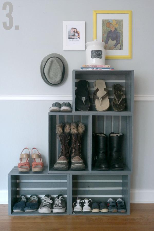 Shoe Storage Ideas - DIY Shoe Storage