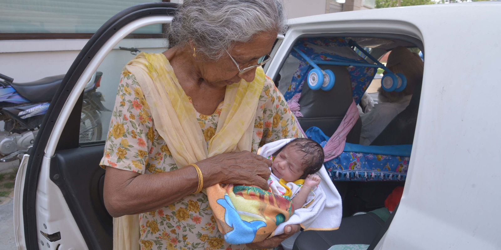 A Woman in Her Seventies Just Gave Birth to Her First Child
