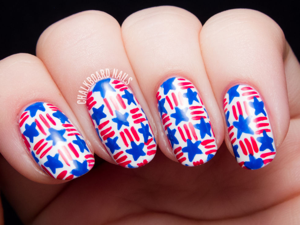 Memorial day nails 4th of july nails stars and stripes basket weave prinsesfo Gallery