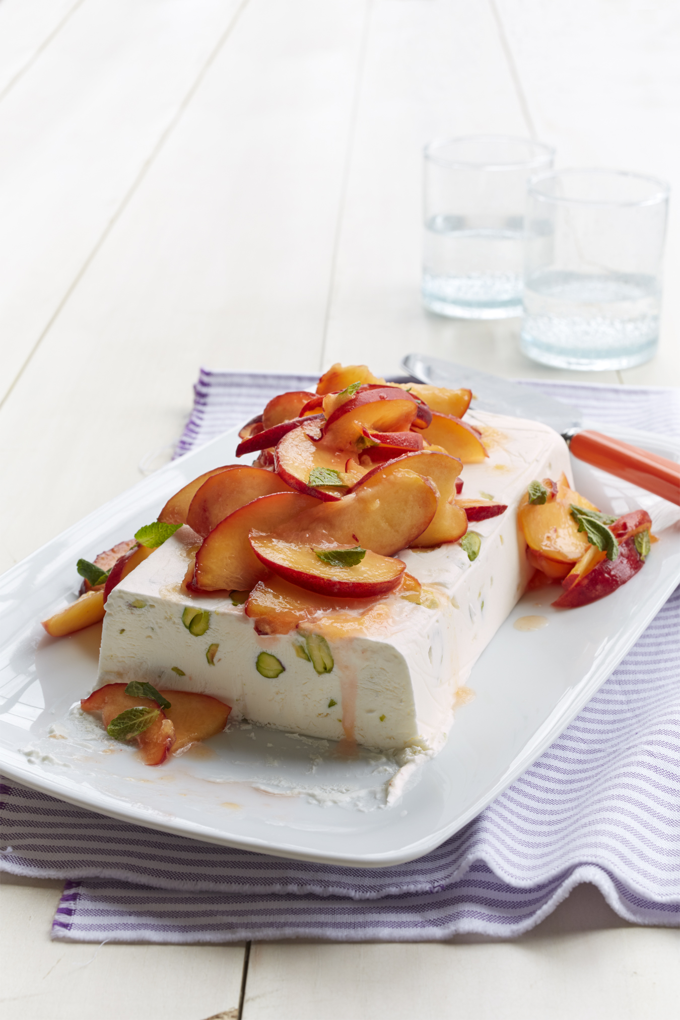Best Semifreddo with Honeyed Peaches Recipe - How To Make Semifreddo ...