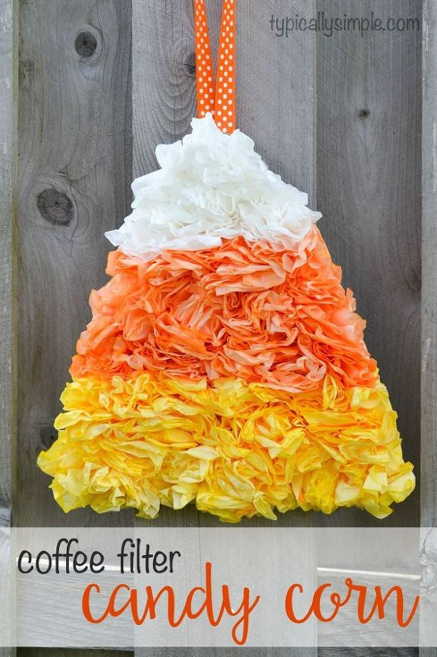 19 candy corn crafts decorations for halloween - Halloween Decoration Crafts