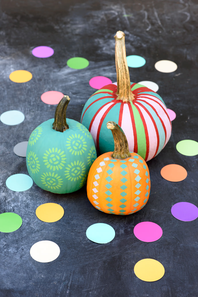 35 halloween pumpkin painting ideas no carve pumpkin decorating - Halloween Pumpkin Designs Without Carving