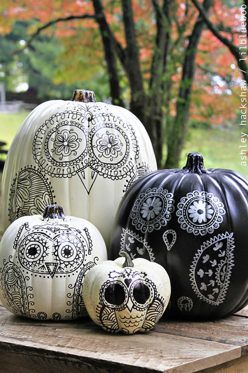 35 halloween pumpkin painting ideas no carve pumpkin decorating - Pumpkins Decorations
