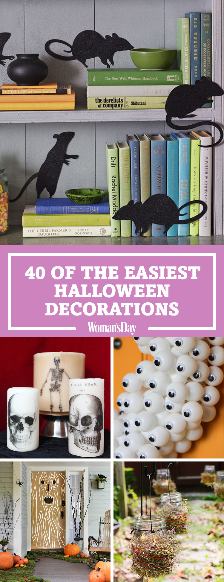 50 easy halloween decorations spooky home decor ideas for halloween - At Home Halloween Decorations