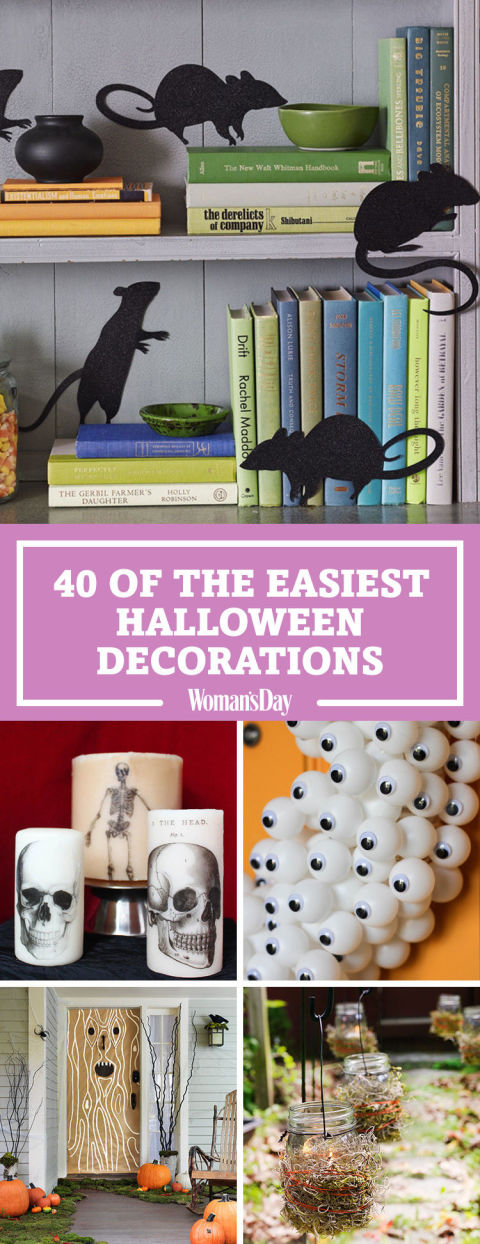 pin these ideas - Simple Halloween Decorations