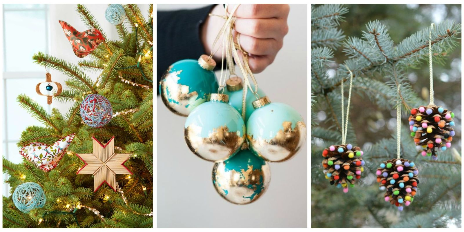 32 homemade diy christmas ornament craft ideas how to for Easy to make christmas decorations at home