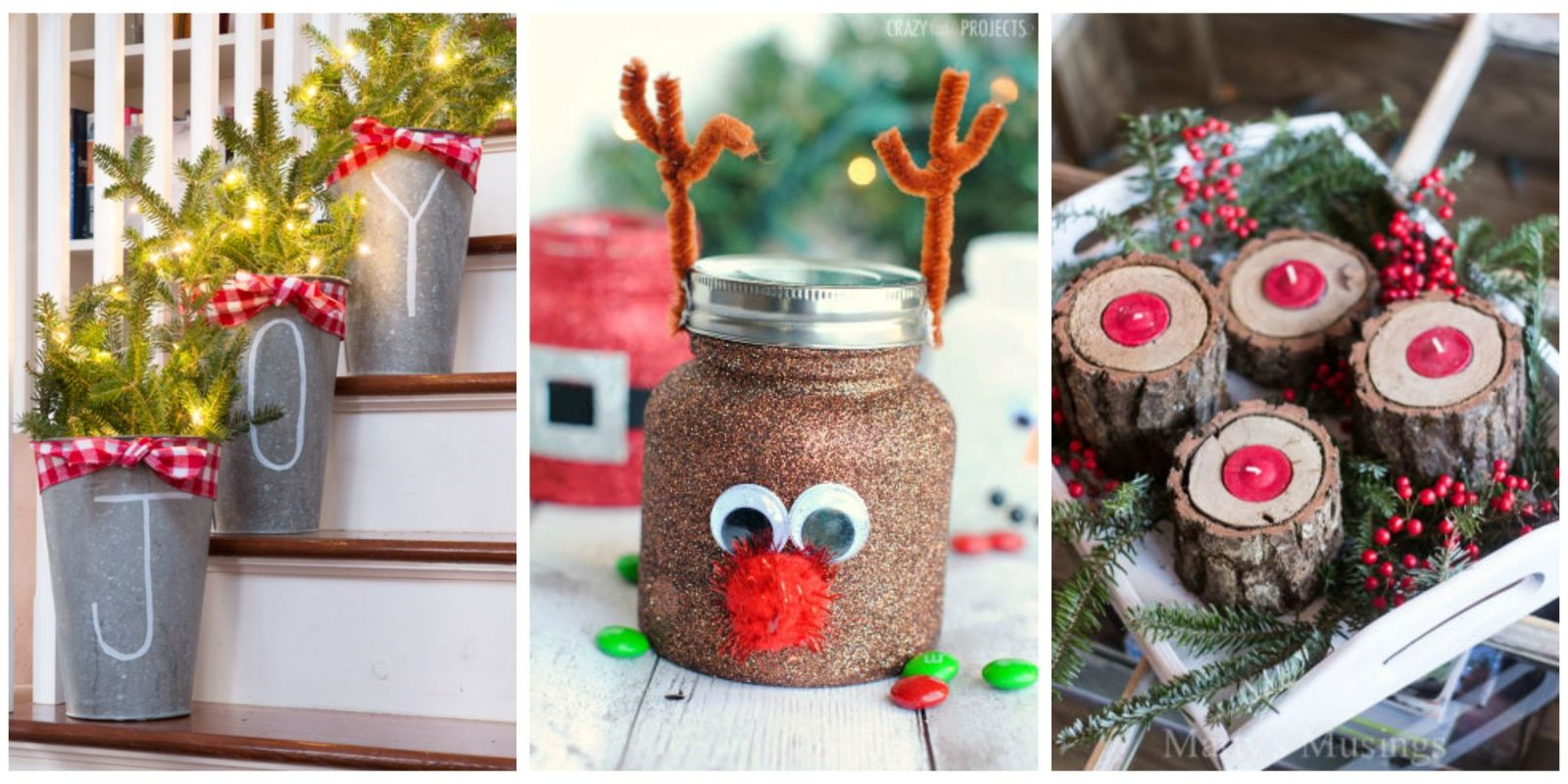 55 easy christmas crafts simple diy holiday craft ideas for Easy homemade christmas craft ideas