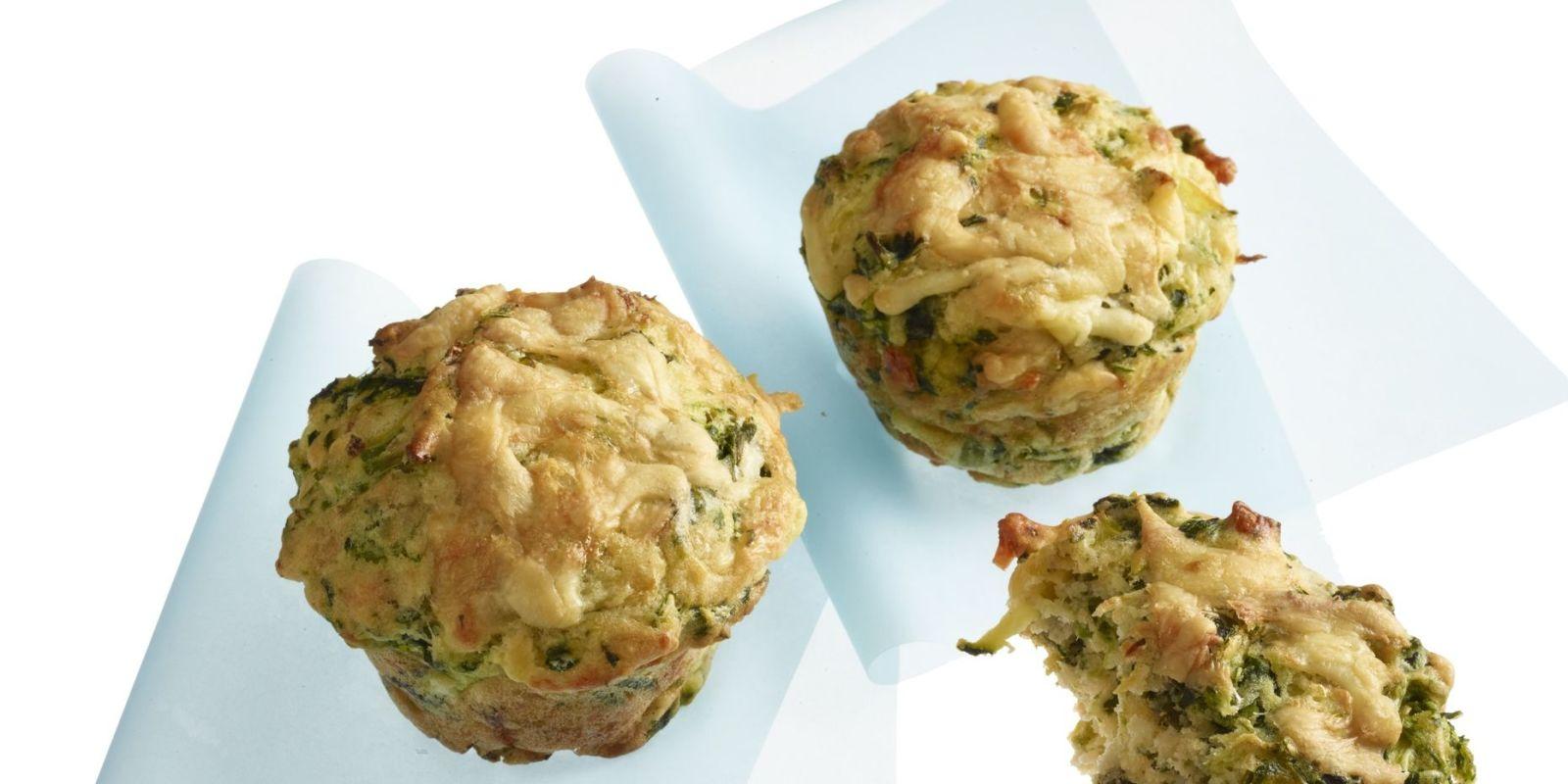 Cheddar, Zucchini Scallion Muffins
