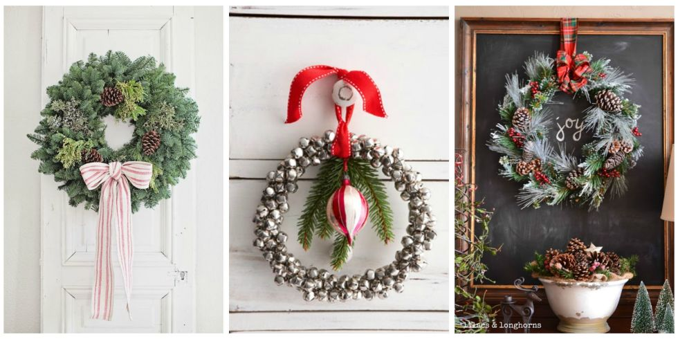 40+ DIY Christmas Wreath Ideas - How To Make a Homemade Holiday ...