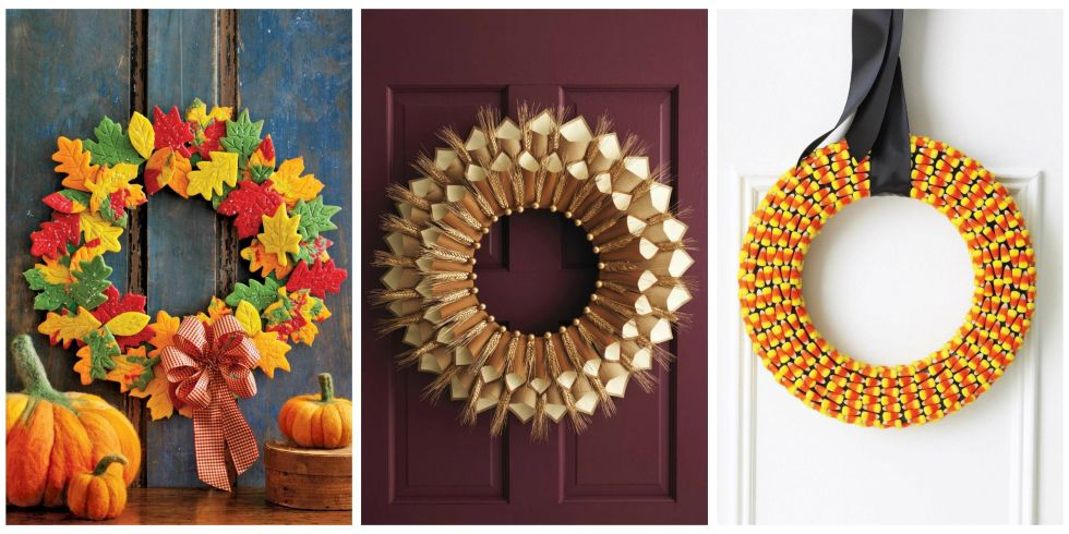 21 Photos  sc 1 st  Womanu0027s Day & 20 DIY Fall Wreaths - Easy Ideas for Autumn Wreaths pezcame.com