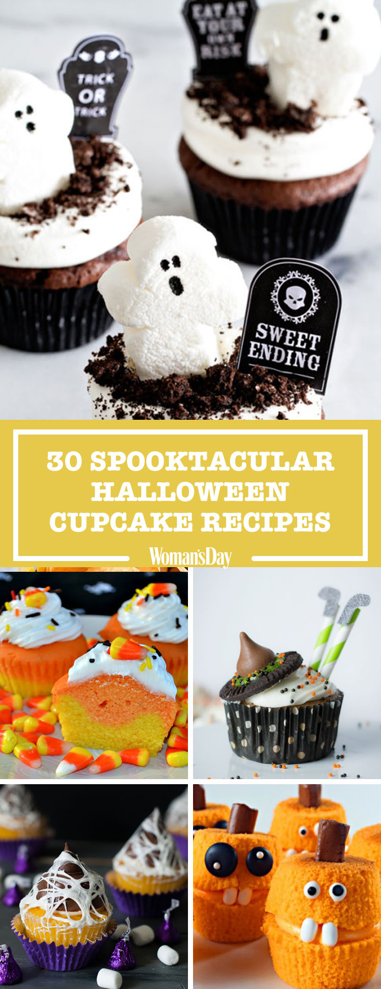 35 halloween cupcake ideas recipes for cute and scary halloween desserts - Halloween Cupcake Decorating