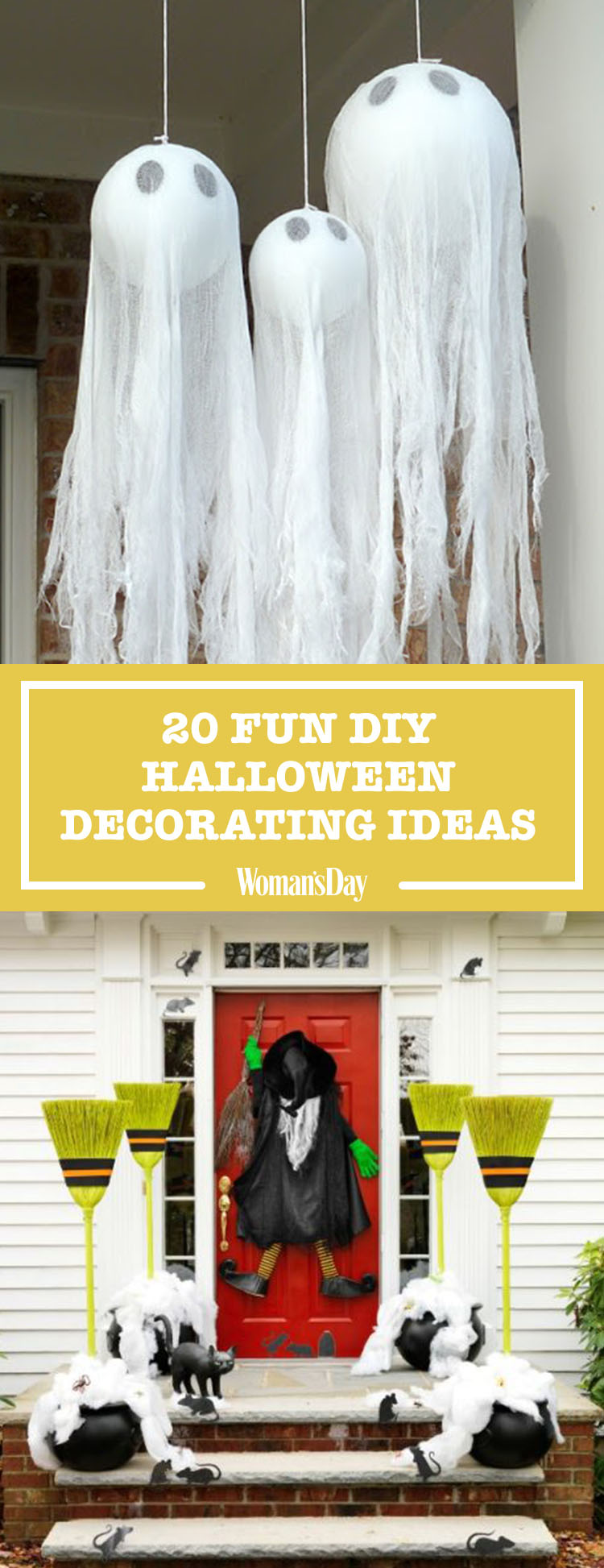 40 easy diy halloween decoration ideas homemade. Black Bedroom Furniture Sets. Home Design Ideas