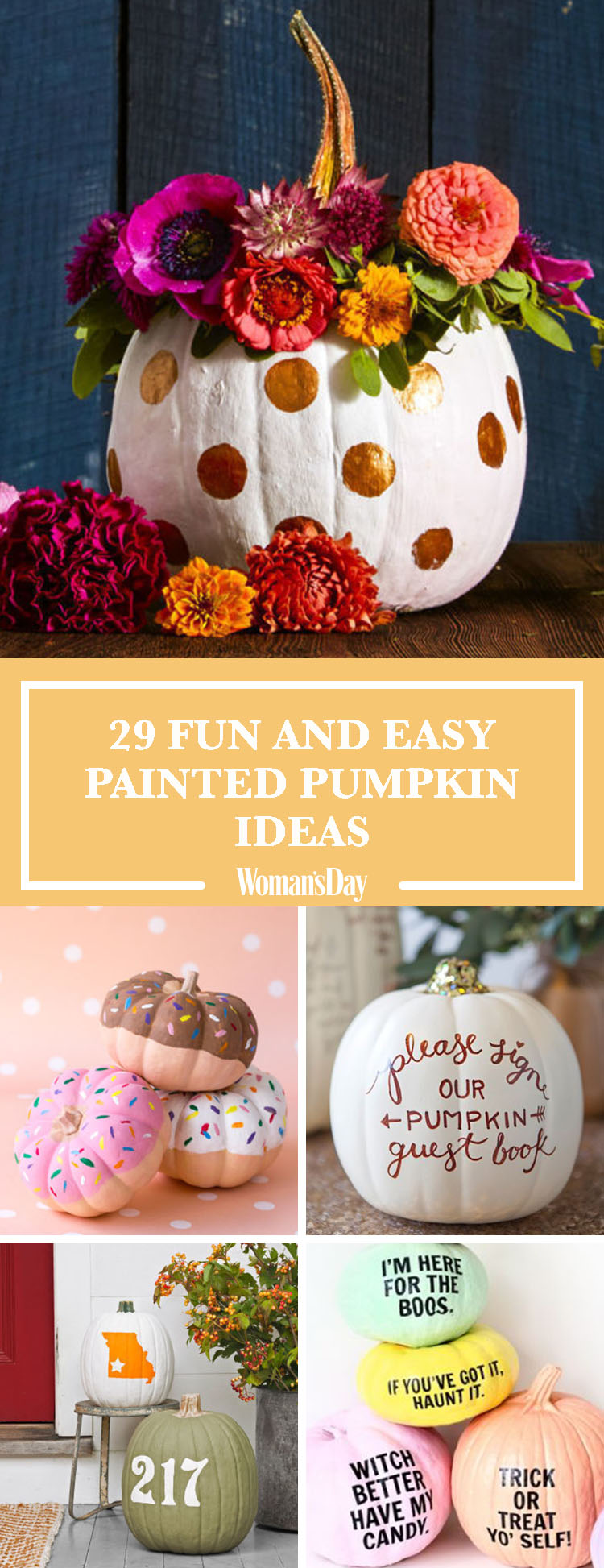 35 halloween pumpkin painting ideas - no carve pumpkin decorating