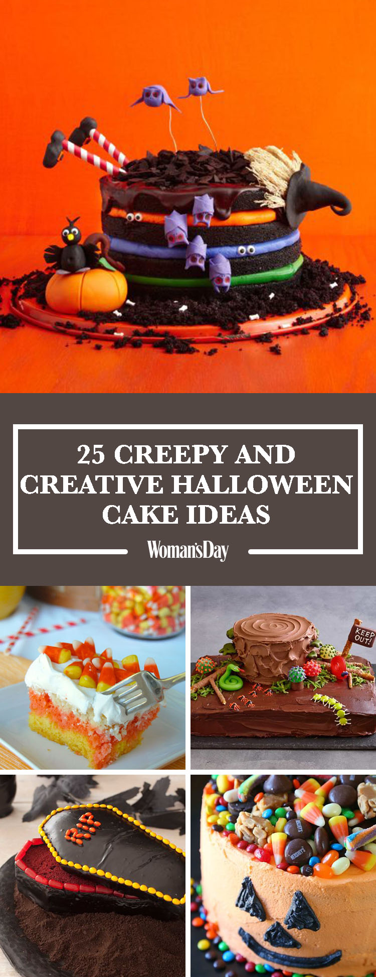 30 easy halloween cakes recipes ideas for halloween cake decorating - Halloween Decorated Cakes