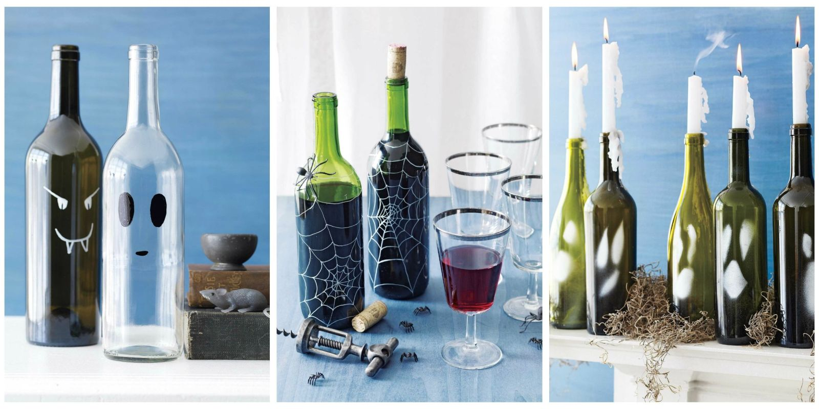 Wine bottle crafts for halloween diy ideas for wine bottles for What can you do with empty wine bottles