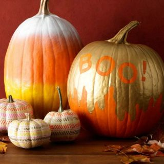 you can put the knife away for these artsy no carve pumpkins previous 35 fun painted pumpkin ideas - Cool Halloween Pumpkin Designs