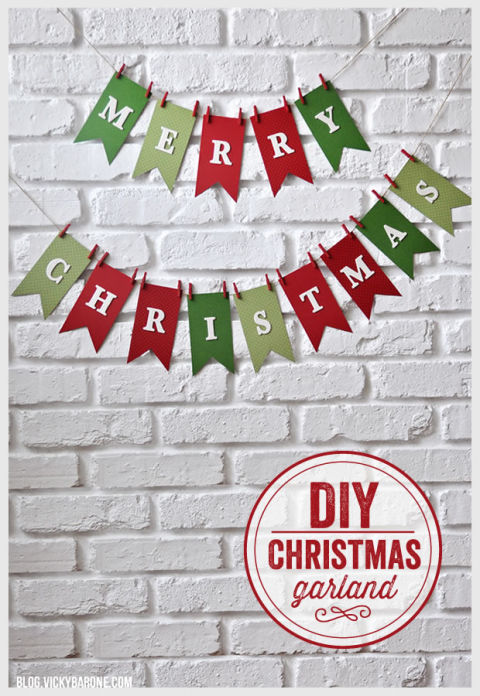 Use scrapbook paper and letters to create an easy and festive sign for a plain wall.