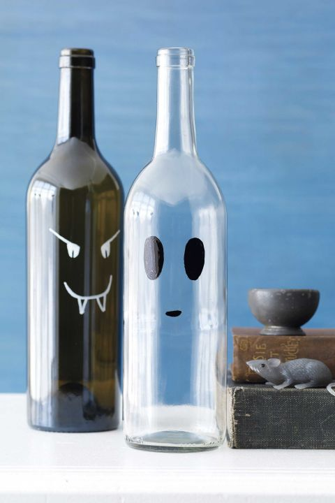 35 easy halloween crafts fun diy and craft ideas for for What can you do with empty wine bottles