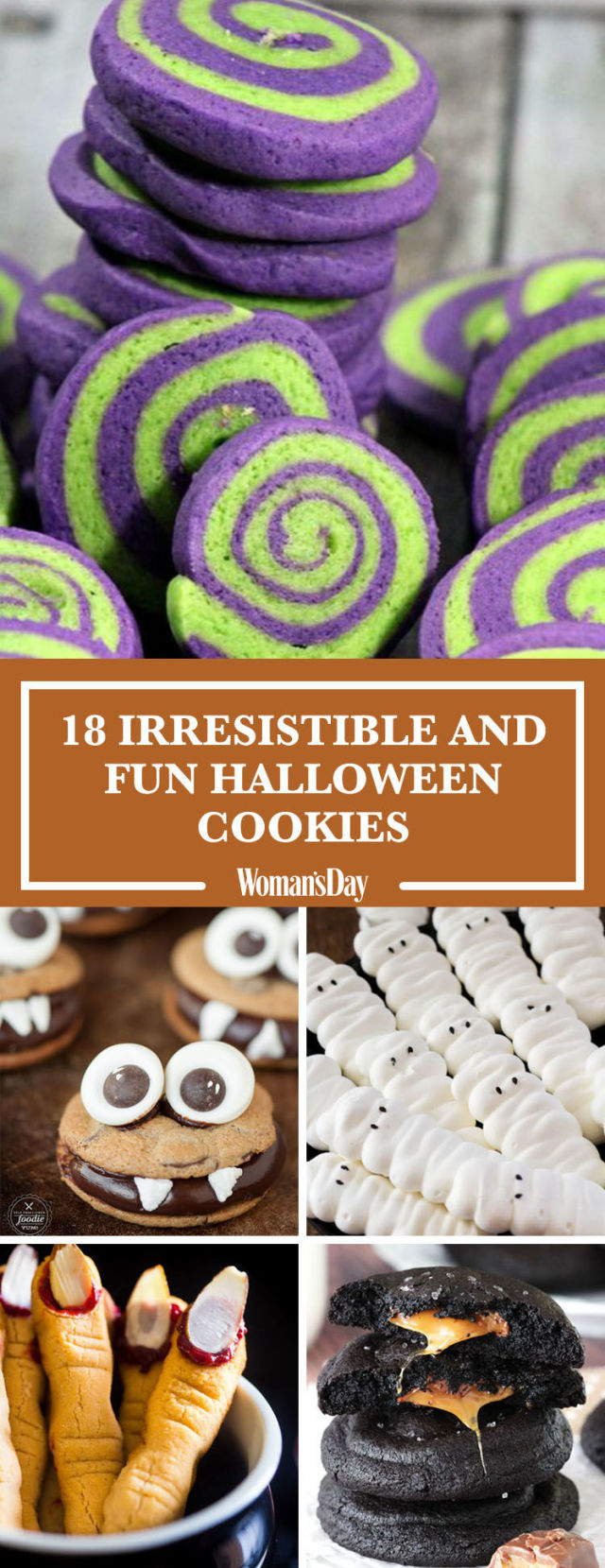 23 easy halloween cookie recipes cute ideas for halloween cookies - Easy Halloween Cookie Ideas
