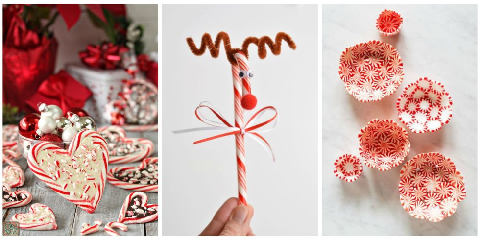 25 Candy Cane Crafts - DIY Decorations with Candy Canes