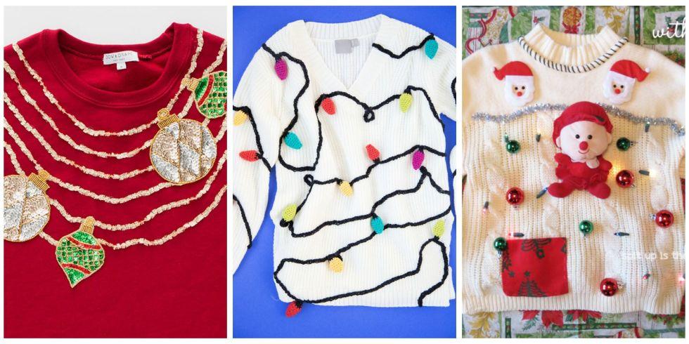 23 Ugly Christmas Sweater Ideas to Buy and DIY - Tacky Christmas ...