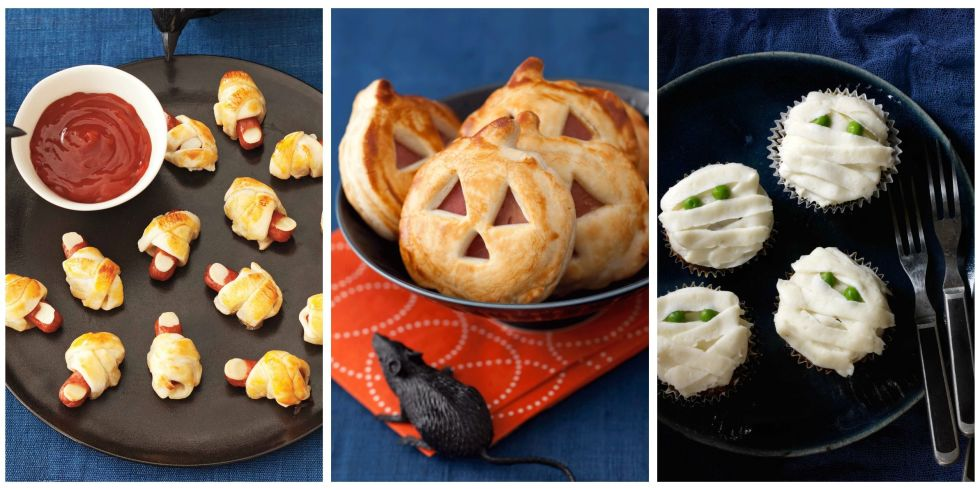 21 easy halloween appetizers recipes for halloween finger foods - Halloween Savory Recipes
