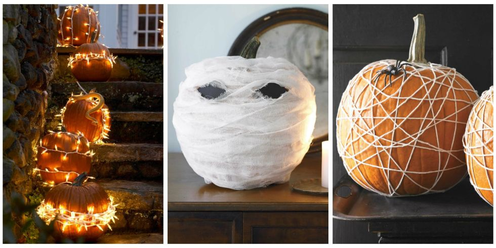 25 best no carve pumpkin decorating ideas fun designs for no carve halloween pumpkins - Pumpkin Decor