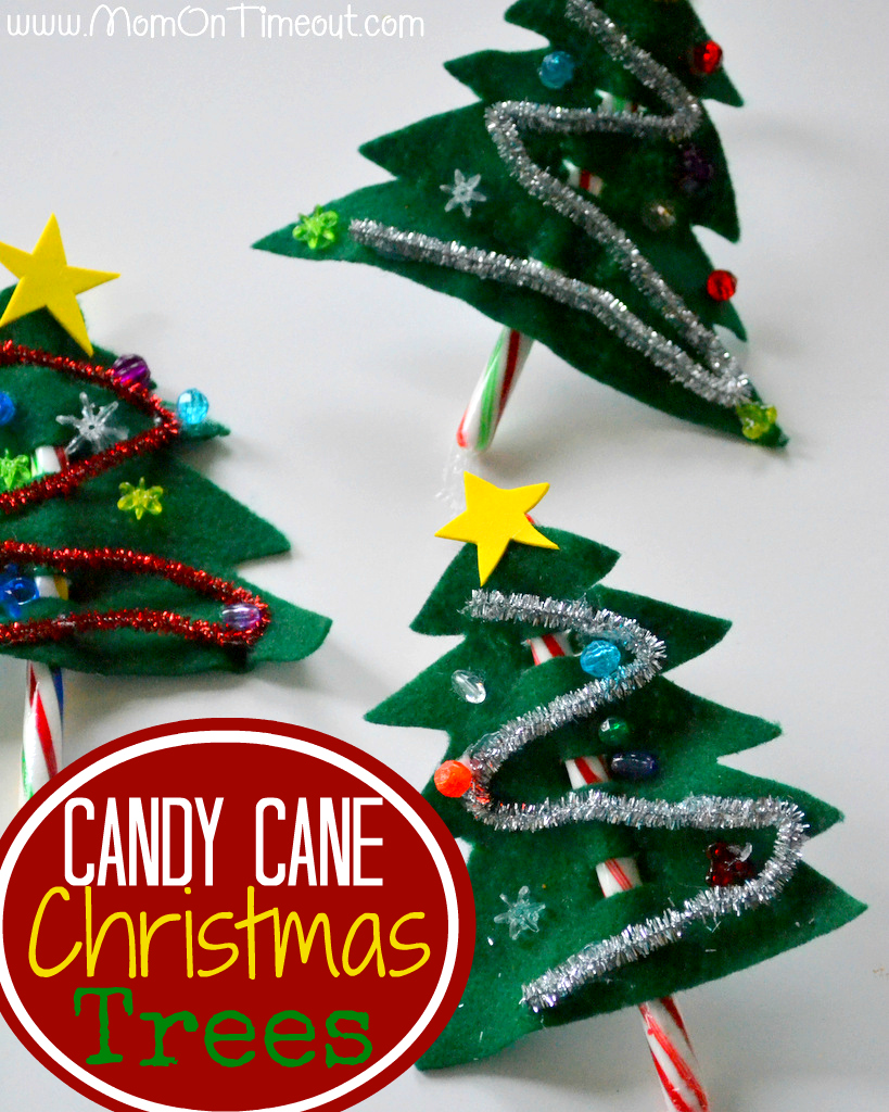 Candy Canes Christmas Tree Craft
