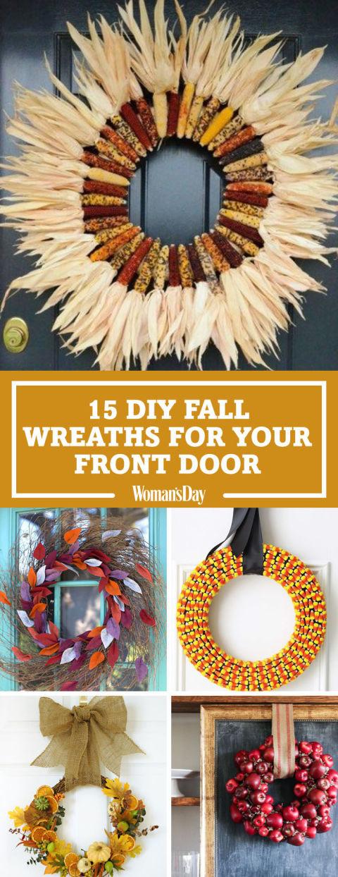 DIY Fall Wreaths Easy Ideas For Autumn Wreaths - 9 diy thanksgiving front door decor ideas