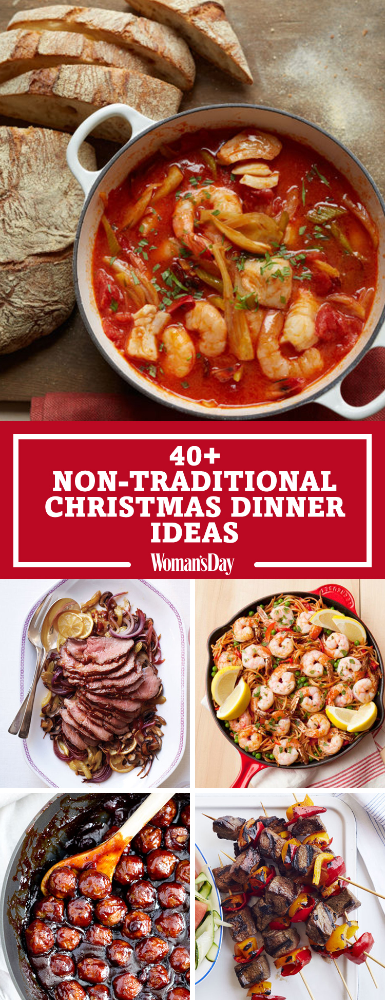 40 easy christmas dinner ideas best recipes for for Ideas for christmas dinner