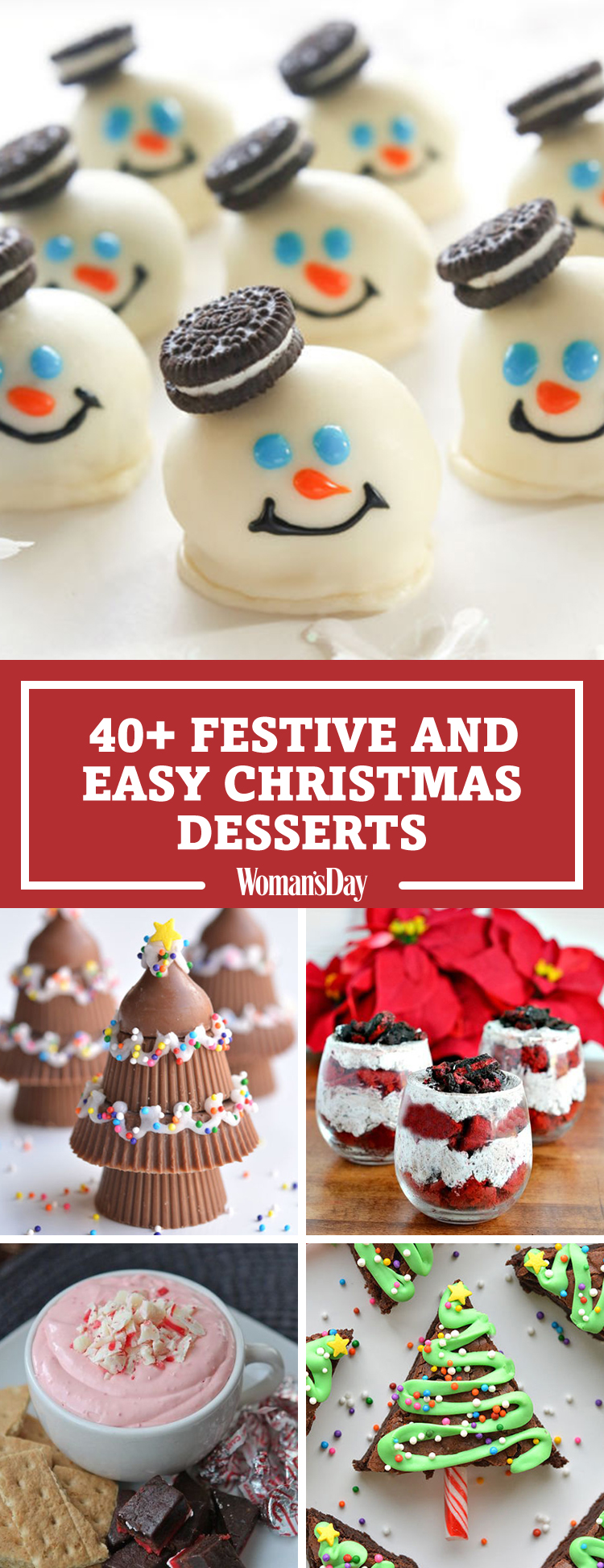 57 easy christmas dessert recipes best ideas for fun. Black Bedroom Furniture Sets. Home Design Ideas