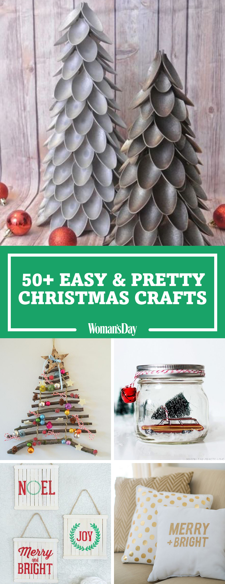 55 easy christmas crafts simple diy holiday craft ideas for Pinterest christmas craft ideas